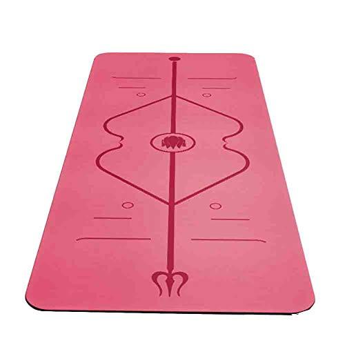 Yogamatte - Beste Umweltfreundliche Und Rutschfeste Yogamatte - Hergestellt Aus Biologisch Abbaubarem Naturkautschuk Und Dem Einzigartigen Ausrichtungsmarkierungssystem - Perfekt Für Hot Yoga 183CMX68