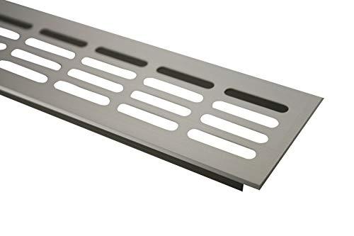 Aluminium Lüftungsgitter Stegblech Lüftung 60mm x 600mm in verschiedenen Farben (Edelstahl eloxiert)
