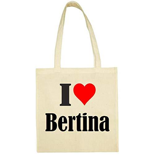 Tasche I Love Bertina Größe 38x42...