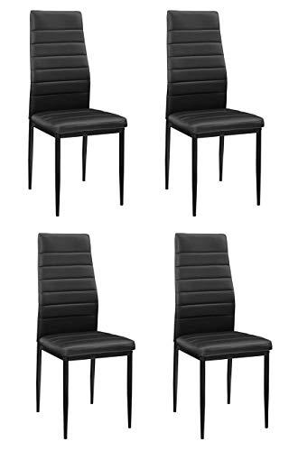 Essgruppe mit 4 Stühlen & Esstisch als Set oder einzeln - perfekt geeignet für Esszimmer, Küche & Wohnzimmer (4X Stühle)