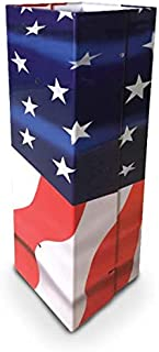 "Fence Armor Patriotic Galvanized Steel Post Protectors | 1 Pair (2pcs) of 4"" x 4"" Post Guards | 16"