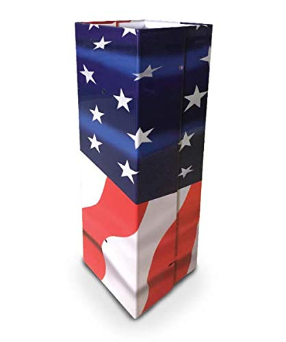 "Great Features Of Fence Armor Patriotic Galvanized Steel Post Protectors | 1 Pair of 5"" x 5"" x 1..."