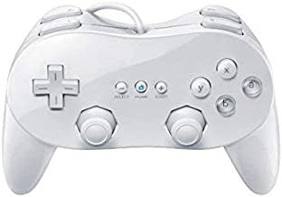 OSTENT Wired Classic Controller Pro Compatible for Nintendo Wii Remote Console Video Game Color White
