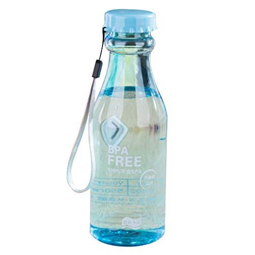 Vkospy 550ml Unbreakable Wasserflasche Sport Büro Soda Flasche Flasche aus Kunststoff Wasser Schal 1