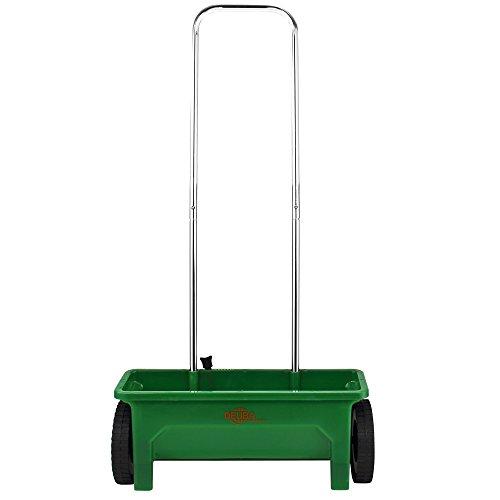 Deuba Streuwagen 12L praktische Stellfüße 50cm Streubreite Streuer Saatgut Düngerstreuer für Salz Dünger Rasen Split