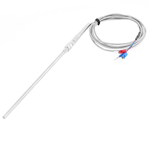 sourcingmap® PT100 Temperaturregelung Fühler Sensor Gabel Messung Thermoelement Sonde 15cm 2M DE de