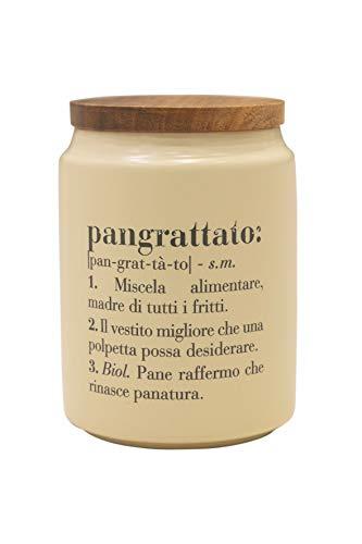 Villa d'Este Home Tivoli Victionary Barattolo Pangrattato, Beige, Misure: Ø 11 x h. 15 cm