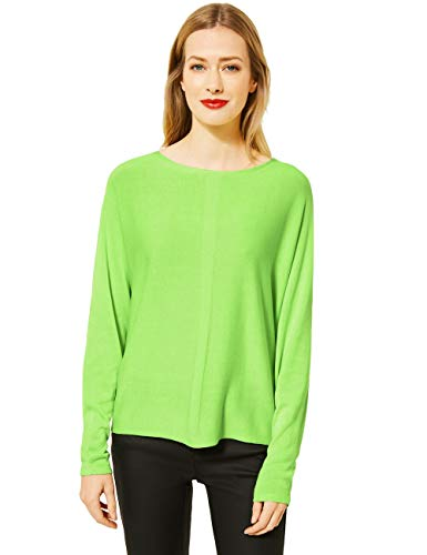 Street One Damen 301416 Style Noreen Pullover, Sunny Lime, 40