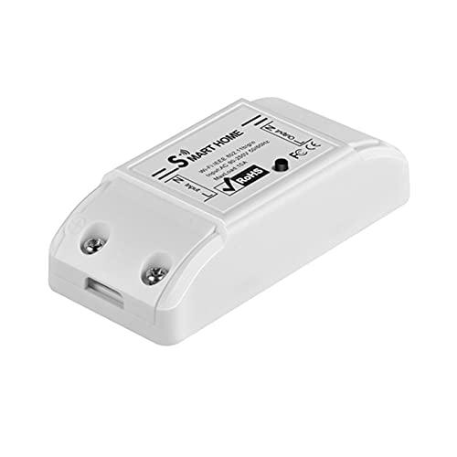 Uniqueheart DIY WiFi Interruptor de luz Inteligente Temporizador de Interruptor Universal El Control Remoto inalámbrico Funciona con Alexa Home Smart Home Automation - Negro