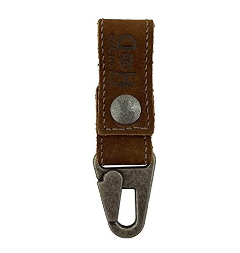 Hide & Drink, Leather Key Ring Holder, Belt Hook Carrier Handmade :: Swayze Suede
