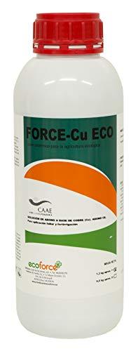 CULTIVERS Force-CU. Fungicida de Cobre ecologico Que Mejora el Sistema de Defensa de la Planta Que favorecen el Desarrollo de Enfermedades (1 L)