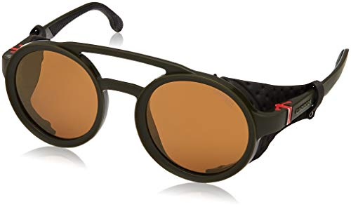 Carrera CA5046/S Oval Sunglasses, Military Green/Brown Gold, 49 mm