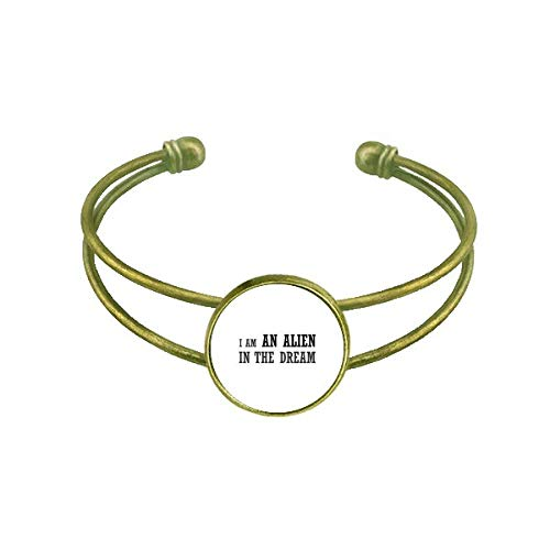 DIYthinker I Am An Alien In The Dream Armband Armreif Retro Offene Manschette Schmuck