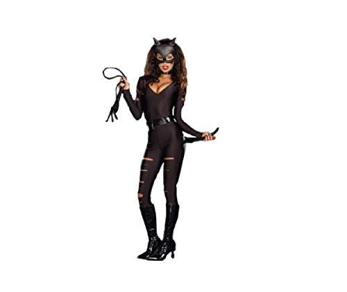 Top Totty Sexy Chat Femme Super Héros Justice League Avengers DC Cosplay Lingerie Noir Taille Unique 36-46