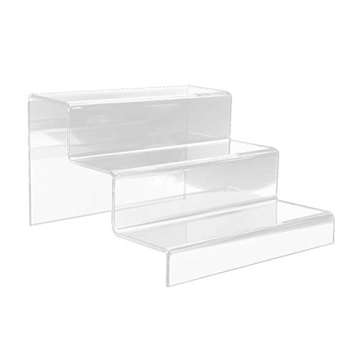 Linier Acryl Schuhe Display Stand Regal, Riser Clear Durable Schuhe Display Stand Regal, Lagerregal Regal Desktop Riser Clear Retail Display Stand Showcase Counter Display Stand