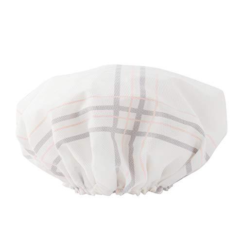 MEIZHIJIA Bonnet De Douche pour Dames Imperméable Shampooing Douche Chapeau Double Épais Adulte Bonnet De Douche Bonnet De Douche Dames Imperméable Bl