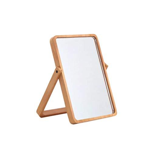 Lurrose Espejo de maquillaje de sobremesa, espejo de vanidad de un solo lado, espejo colgante para dormitorio, baño