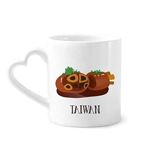 DIYthinker slang dikke darm Taiwan reizen koffie mokken aardewerk keramische beker met hart handvat 12oz gift