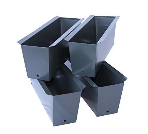 ARTECSIS Pflanzkasten Europalette 4er Set Anthrazit Aus Metall Blumenkasten Balkonkasten Blech Einsatz Für Paletten