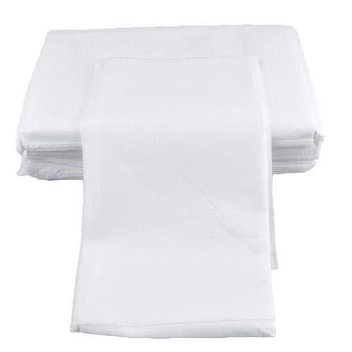 Lot de 100 draps de table de massage jetables en tissu non tissé imperméable et épais pour salon de beauté, massage, tatouage, hôtels 180 x 80 cm