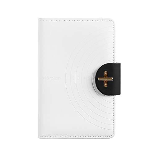 XXT Autollenado Eficiencia cuadrícula de programación Este Manual de Gestión del Tiempo portátil Notebook cuadrícula Mano Ledger Simple Diary (Color : White)