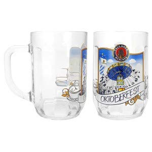 Paulaner München Oktoberfest Maßkrug Bierkrug Krug Glas Bierglas