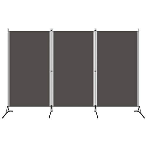 vidaXL Rumsavdelare 3 paneler antracit 260x180 cm