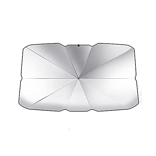 EBDS Coche Plegable Sol Ciego Parasol, Protector UV Interior Delantero de la Ventana Delantero Cubierta de protección Sol Cortina de Coche Accesorios de Parabrisas,65x110x125cm