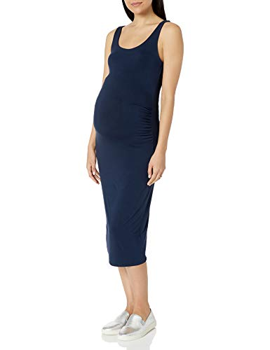 Amazon Essentials Vestido sin Mangas de Maternidad Maternity-Nursing-Dresses, Azul Marino, L