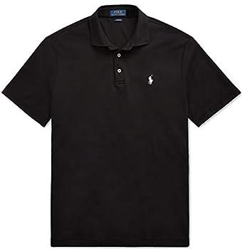 Polo Ralph Lauren Mens Medium Fit Interlock Pony Shirt Polo Black Large