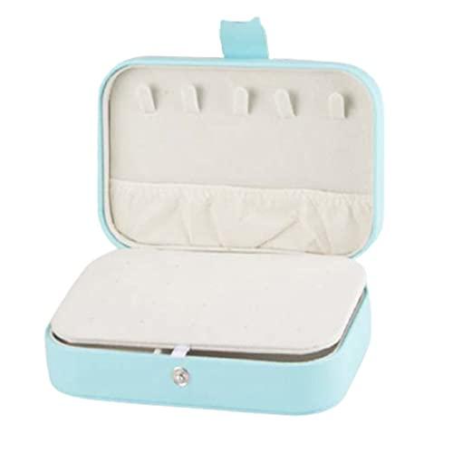 Finetoknow Caja de almacenamiento de joyería pequeña de doble capa con 2 capas, organizador de joyas portátil, duradero, conveniencia, útil para pendientes, anillos, corbatas y pulseras