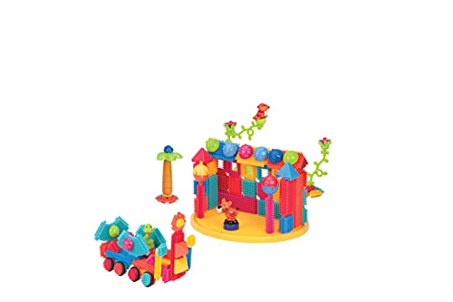 Bristle Blocks by Battat – The Official Bristle Blocks – 128 Pieces in a Bucket – STEM Creativity Building Toys for Dexterity and Fine Motricity – BPA Free 2 years +
