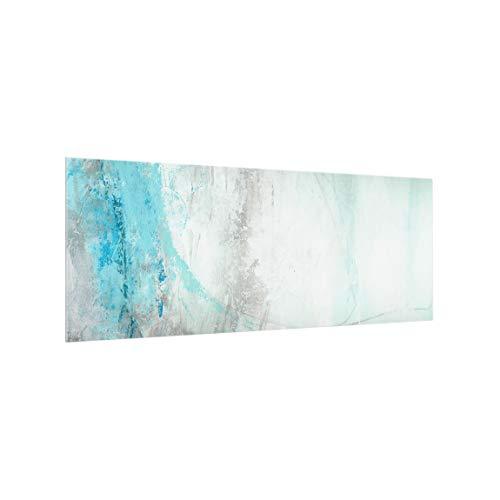 Bilderwelten Spritzschutz-Glas ohne Licht Beleuchtung - Eismeer Panorama 40 x 100 cm
