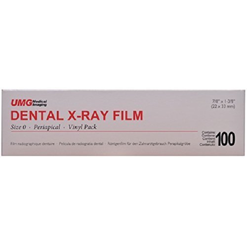 Dental X-ray Single Film Size 0 Periapical Vinyl Pack D Speed 100-box UMG Ds-54