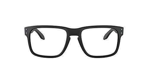 Oakley Men's OX8156 Holbrook Rx Square Prescription Eyeglass Frames, Satin Black/Demo Lens, 56 mm