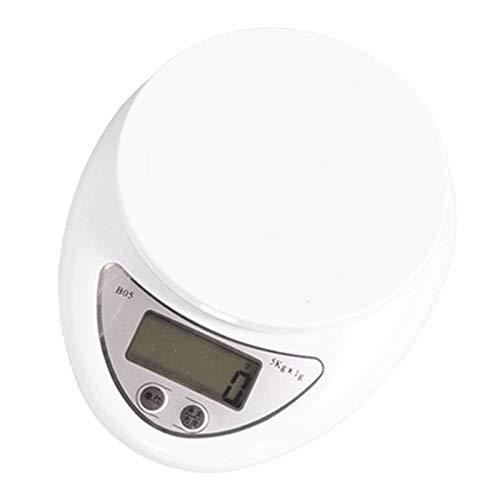 KANJJ-YU Báscula digital de alimentos de 5 kg/1 g, 1 kg/0,1 g, multifunción de alta precisión, báscula digital de cocina para hornear y cocinar, pantalla LCD de cocina (color: 5 kg 1 g)