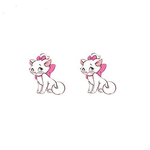 QIN New cute cat acrylic earrings Cute cat spiral earrings epoxy fashion art resin earrings