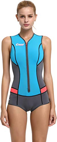 Cressi Damen Idra Swimsuit 2mm High-Stretch Neopren Kostüm, Hellblau, XL/5