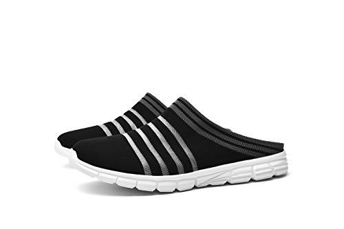 CLYCTIP Zapatillas deportivas de mujer Calcetines Zapatillas Deportes Caminar Gimnasio Running Zapatillas Elástic, color Negro, talla 38 EU