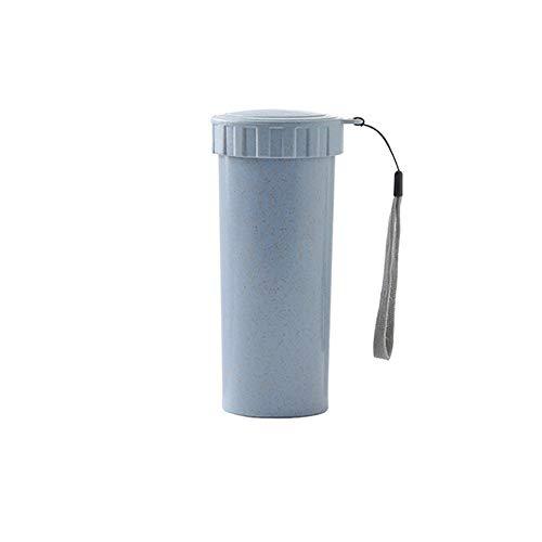 Taça térmica de camada dupla para braguilha, canudo de fibra de palha de trigo, garrafa de vácuo, caneca de viagem perfeita para chá de café com leite (300 ml)