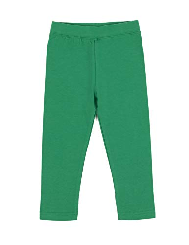 Leveret Kids Solid Girls Leggings Green (Size 5 Years)