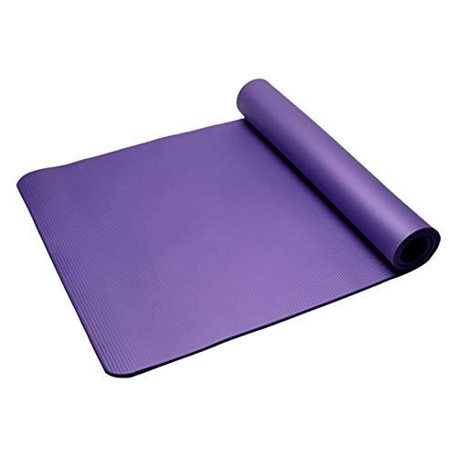 5lightrich Tappetini per Esercizi 10mm NBR Palestra Antiscivolo Home Fitness Esercizio Yoga Pilates Cuscino per tappeti per Palestra Interna Coperta Purple