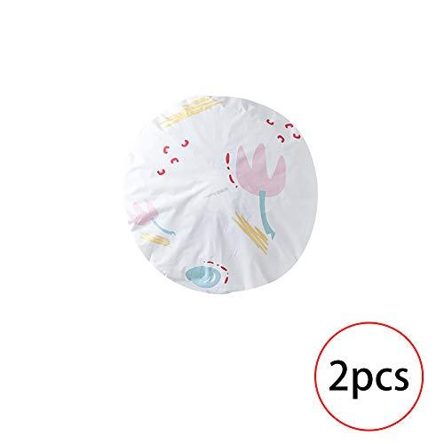 2pcs Cartoon Florale Muster Elektro-Ventilator staubdicht Runde elastische Staubabdeckung Schutzhülle zu Hause Dekorations Bedarf (Blumen)