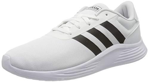 Tênis adidas masculino Lite branco preto academia caminhada