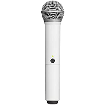 Audio2000 APM1069S White Dynamic Cardioid Vocal Microphone with Holder