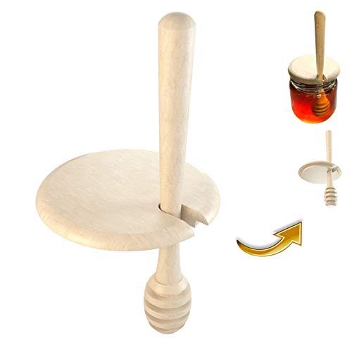 Bellmot 1 STK. Honiglöffel inkl. Deckel aus Holz. Honig Dipper. Honig Löffel