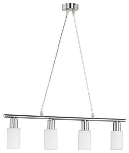 Reality Leuchten R30014007 - Lampada da soffitto a 4 luci, attacco E14, metallo, bianco