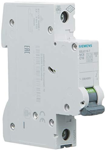 Siemens 5sl6 - Automático magnetotermico 230/400v 6ka 1 polo c-16a