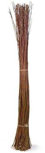 Weidenprofi Weidenbüschel, Weidenbündel aus dunkler Naturweide, Naturmaterial unbehandelt: Höhe ca. 160-180 cm, Ø ca. 10-15 cm, Gewicht ca. 1,5-3 kg