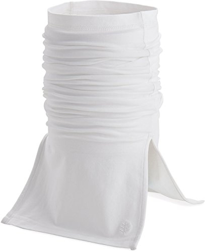 Coolibar UPF 50+ Men's Women's Key West Sun Neck Gaiter - Sun Protective (Large/X-Large- White)